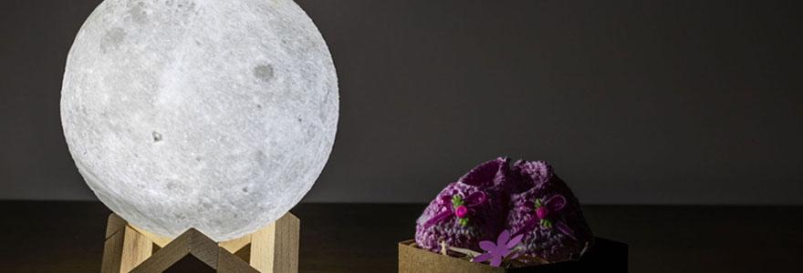 Effet de la lampe lune